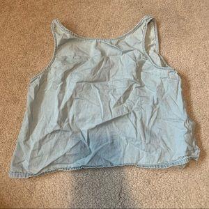 Brandy Melville light blue tank top with open back